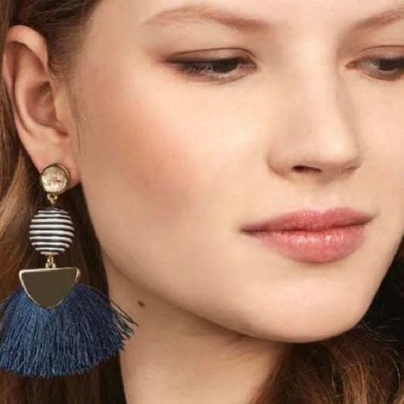 Jewelry - BOGOOO 50% Gray tassel earrings with round